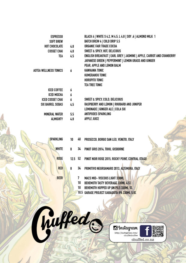 Chuffed Menu Winter 20174